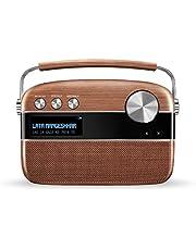 Saregama Carvaan Premium Hindi - Portable Music Player with 5000 Preloaded Songs, FM/BT/AUX (Oakwood Brown)