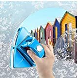Megnetic Window Cleaner, Double-Sided Window Cleaning Glass Wiper Cleaning Tools, Outside Window Cleaner Magnetic, 5-Gear Adjustable for high Rise Window Cleaning Windows Thickness 0.3'-1.2' (Blue)