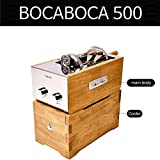 Bocaboca 500 Coffee Bean Roaster Barrel Glass (500g/ 1.1lb) Household Far Infrared Stylish Machine for Barista Cafe Shop Home