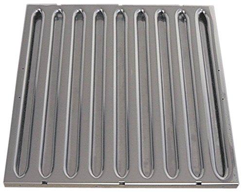 Vlambeschermingsfilter voor afzuigkappen A breedte 400mm hoogte 400mm CNS DIN 18869-5 dikte 20mm 18869-5