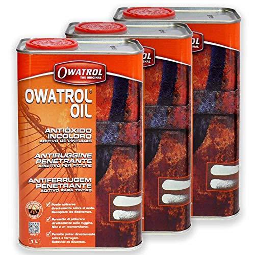 3 x Owatrol Öl 1l - Rostschutz, Holzschutz, Rustol, Oil