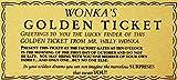 YASMINE HANCOCK Willy Wonka Golden Ticket Gold Sign Wall