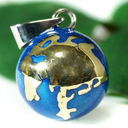 メキシコ MUSICAL BALL ミュージカルボール 地球儀 ペンダントトップ ブルー