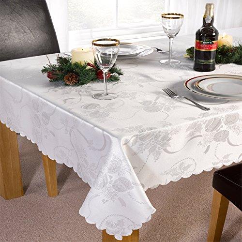 Linens Limited - Chemin de table Angelica - motif de Noël - blanc - 33 x 229 cm