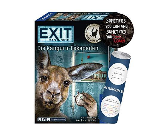 Kosmos 695071 Exit - Juego de mesa de Eskapaden (nivel avanzado) + 1 adhesivo de salida + 1 póster de ilusión óptica
