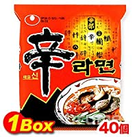 韓国ラーメンを代表する一品 あの辛さがたまらない 農心 辛ラーメン 1箱(40袋)