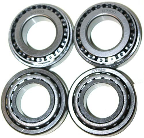 ZGZ 07100 07196 Tapered Roller Bearing Set - Cup & Cone 1' Bore & 1.9687' OD (4)