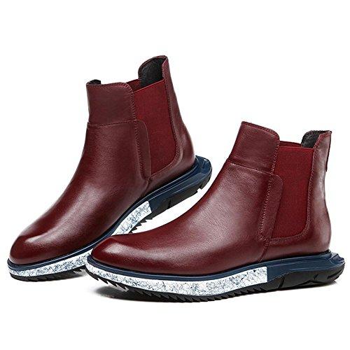 Heren winterlaarzen en wol-trendy man hoge schoenen Martin England casual schoenen