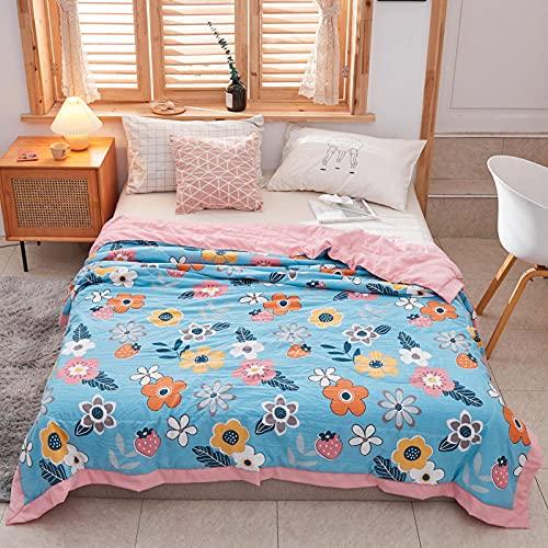 Decke hochwertige Wohndecken Kuscheldecken, extra warm Sofadecke/Couchdecke in zweiseitig, super flausch Fleecedecke als Sofaüberwurf oder Wohnzimmerdecke -Luftgarten_200 *...