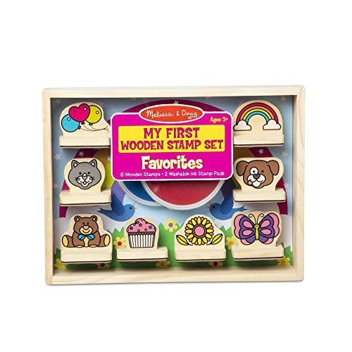 Melissa & Doug My First Wooden Stamp Set – Favorites