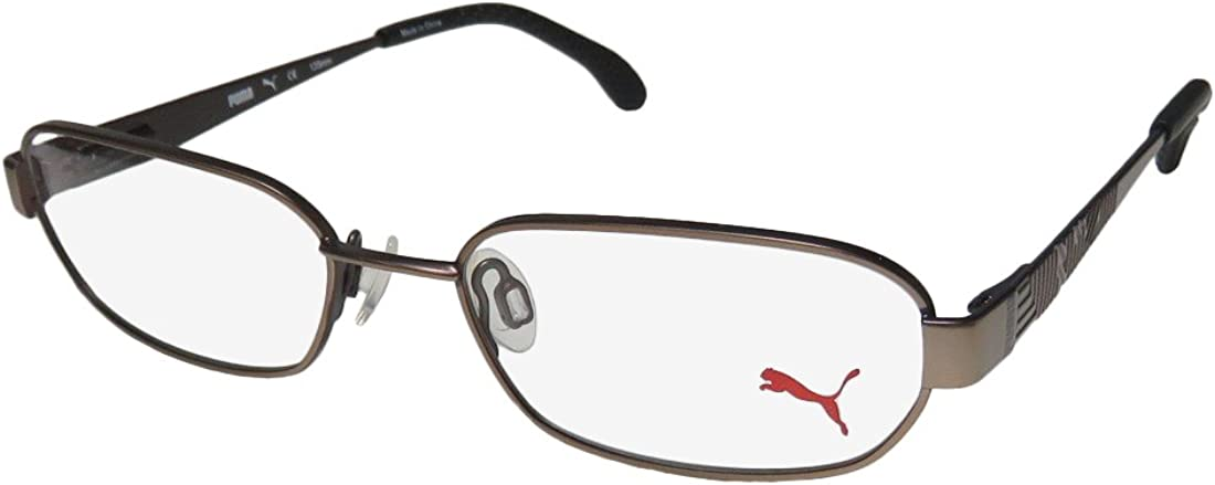 Puma 15421 Mens/Womens Flexible Hinges TIGHT-FIT Designed for Weight Lifting/Yoga/Sports Activities Eyeglasses/Eye Glasses
