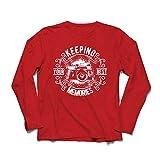 lepni.me Camiseta de Manga Larga para Hombre Cámara del fotógrafo, Foto - manteniendo Sus Mejores Recuerdos, Amante de la fotografía (Large Rojo Multicolor)