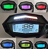 SAMDO Universal Motorcycle Speedometer 6 Gear 299 KMH MPH 14000 RPM Odometer Tachometer