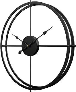 TETAKE Horloge Murale Geante - Ø 60cm XXXL Silencieuse Pendule en Métal 3D Horloge Murale Design Moderne Grande Horloge Mu...