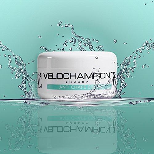 VeloChampion Luxus Anti Scheuern Chamois Cream Mit Menthol Duft, Idealer hygienischer Balsam für Radfahrer, Läufer und andere sportbezogene Aktivitäten – Gut für Ihre Haut, reduziert Reibung und verhindert Entzündungen (150ml) - 2