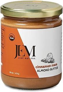 JEM Cinnamon Maca Almond Nut Butter, All Natural, Organic, Gluten-Free, Vegan, Paleo, Keto Snack, 16 oz Jar, Single Pack