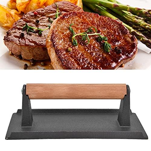 Prensa de tocino, prensa de tocino uniforme Operación simple para bistecs para hamburguesas para asar al aire libre para amantes de la carne