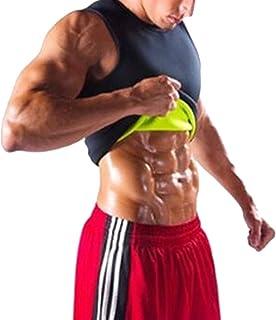 MUYCO Hombres Sauna Chaleco Body Shaper Sudor Entrenamiento Camiseta sin Mangas para Adelgazar Neopreno Pérdida de Peso Tummy Fat Burner