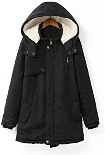neveraway Women Thickened Plus-Size Casual Weekend Sherpa Lined Hood Coat Jacket