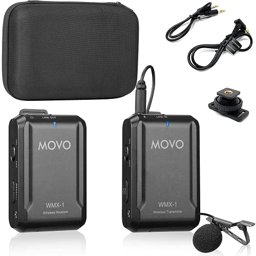 Movo WMX-1 2,4GHz Système de microphone Lavalier sans...