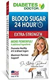 Diabetes Doctor Blood Sugar 24 Hour Daily Support - Extra Strength 11 in 1 Blend - for Healthy A1C & Blood Sugar Levels, Insulin Sensitivity & Resistance & Pancreas Support