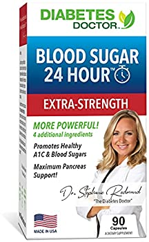 Diabetes Doctor Blood Sugar 24 Hour Daily Support - Extra Strength 11 in 1 Blend - for Healthy A1C & Blood Sugar Levels Insulin Sensitivity & Resistance & Pancreas Support