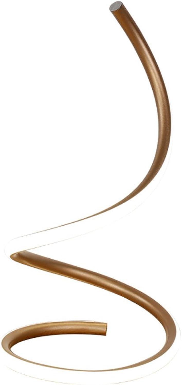 TangMengYun Moderne LED Tischlampe Kunst Kreative Energiesparende Schreibtischlampe Augenschutz Schlafzimmer Nachttischlampe (Farbe   Gold-21  38cm-15w-warm light)