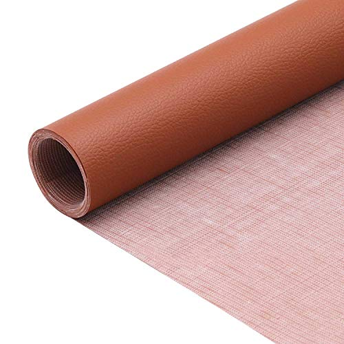 1 rollo autoadhesivo de cuero de la PU parche kit de reparación de primeros auxilios para sofá asiento de coche muebles chaquetas bolso 50 x 137 cm (Chiaro Marrone)