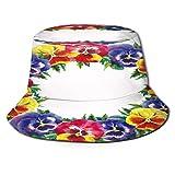 Sombrero de Pescador Unisex Vector Dibujado a Mano Resumen horario de Verano Plegable De Sol/UV Gorra Protección para Playa Viaje Senderismo Camping
