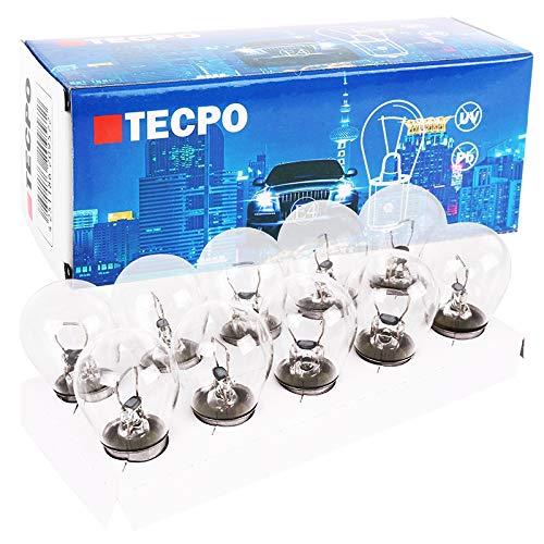 TecPo 10x P21W 12V 21W Kugellampe BA15S Bremslicht Birne Tagfahrlicht