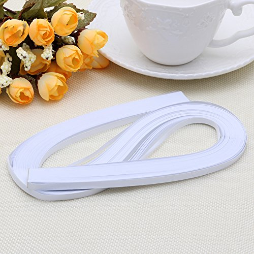 Haorw Papier Quilling Set 120-Streifen 52cm Länge/Streifen Papierbreite 5mm (Weiß)