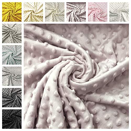 Panini Tessuti, Ritagli di Minky 50 x 75 cm Ideale per Realizzazione di Accessori Come Sciarpe, Cappellini e Scaldacollo o per creazioni Handmade (Rosa Antico 50)