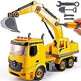 kimonca Camion Excavadora Juguete Vehículo de Construcciones con Luces y Sonido Regalo para Niños NiñaS 3 4 5 Año