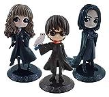 XIAOGING 3 Juegos de la Figura de acción Q Versión 5.5inches Harry James Potter Hermione Granger Sev...