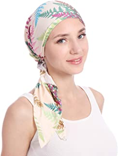 Belyee Women Pre-Tied Head Scarves Floral Muslim Cap Turban Hat Bandana Headwrap