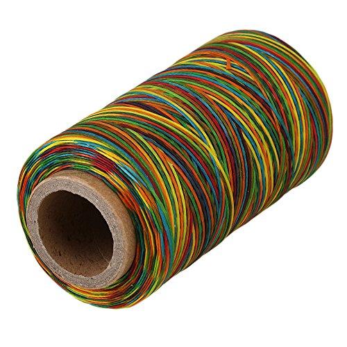 Yibuy 200 Metros 1 mm 150D Cuero Tiendas de Campaña Encerado Hilo de Cera para Costura DIY, Multicolor, 10.7 x 5.4cm/4.2 x 2.13(L x Dia)