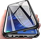 Samsung Galaxy A30 (SM-A305F/DS)ガラスケース 磁気吸着ケース バンパー 両面強化ガラス 9H……
