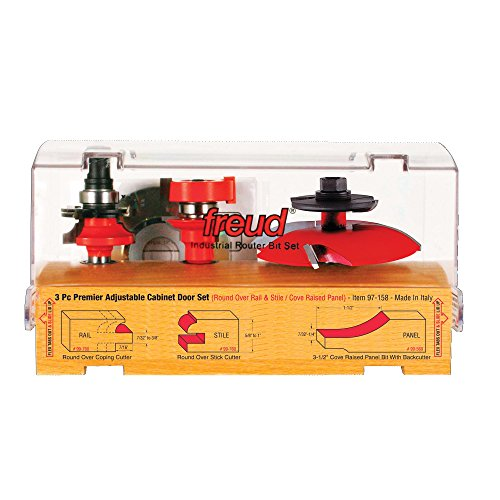 Freud 3 Piece Premier Adjustable Cabinet Bit Set (97-158)