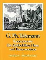 TELEMANN - Concierto en Fa Mayor (TWV:42/f14) para Flauta de Pico Alto (Flauta), Trompa (Viola) y BC