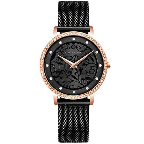 RORIOS Reloj de Mujer Cuarzo Analogico Relojes de Acero Inoxidable Relojes Impermeable Relojes de Pulsera Elegantes Vestir Relojes para...