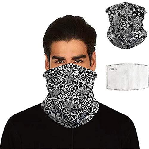 Briskorry Schlauchtuch Bedruckte Multifunktionstuch,Damen und Herren Halstuch Gesichtsmaske Atmungsaktiv Mund-Tuch Staubschutz Outdoor Schlauchschal Motorrad Fahrrad Schal Face Shield