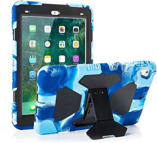 iPad Air 2 Case / iPad 9.7 Case 2018 iPad 6th Generation Case / 2017 iPad 5th Generation Case for Kids, Shockproof Cover with Adjustable Kickstand- Navy/Black
