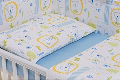 Milana Baby-Bettwäsche-Set 110 x 140 cm, 3-teilig, Blau Jacadi (Bettbezug 110 x 140 cm, Kissenbezug 40 x 60 cm, Bettlaken 100 x 150 cm)