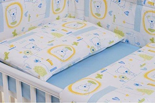 6-teiliges Bett-Set für ein Baby Bett 60x 120cm (blau Jacadi)