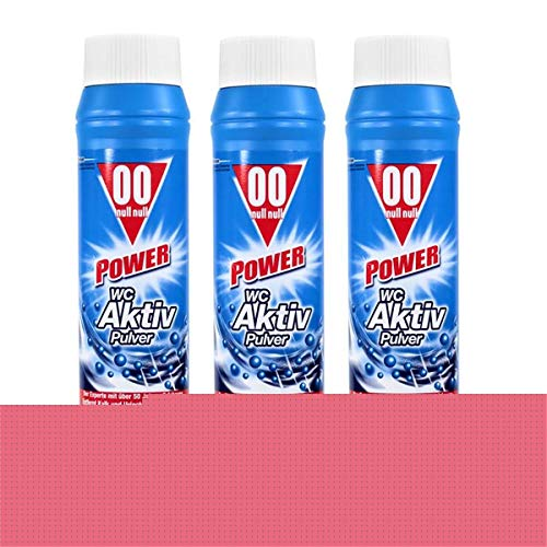 3x 00 Null Null Power WC Aktiv Pulver 1kg