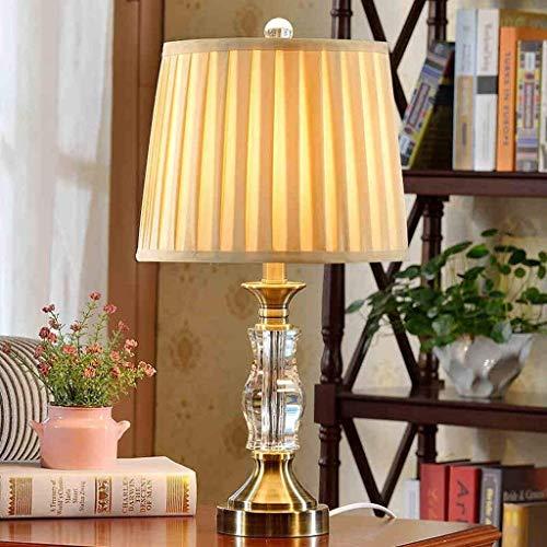 HYY-YY Lámpara de mesa, personality, minimalista europea, moderna, lámpara de cristal para salón, dormitorio, lámpara para mesilla de noche, creativa, lámpara decorativa, lámpara de noche