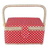 Almacenamiento de costura, organizador de costura, cesta de costura, organizador de caja de almacenamiento de aguja de hilo de artesanía de tela, organizador de kit de costura ligero