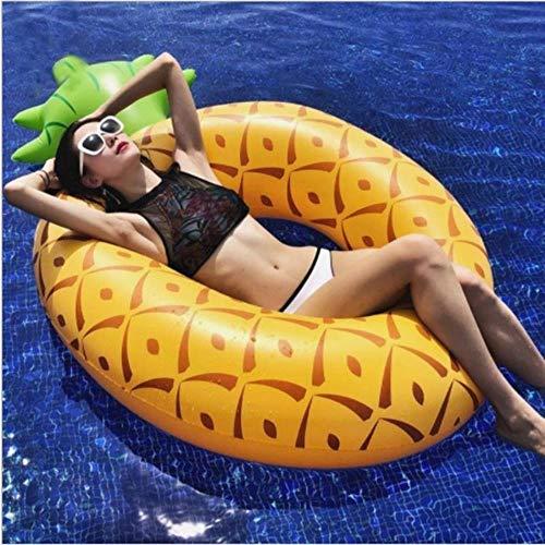 ZPN Aufblasbarer SchwimmringSchwimmreifen Ananas Motiv Große Größe Erwachsene Sommer Schwimmring Pool, gelb
