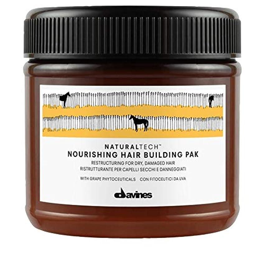 雑種素晴らしい良い多くの中級[Davines ] Pak 250ミリリットルを構築ダヴィネス栄養髪 - Davines Nourishing Hair Building Pak 250ml [並行輸入品]