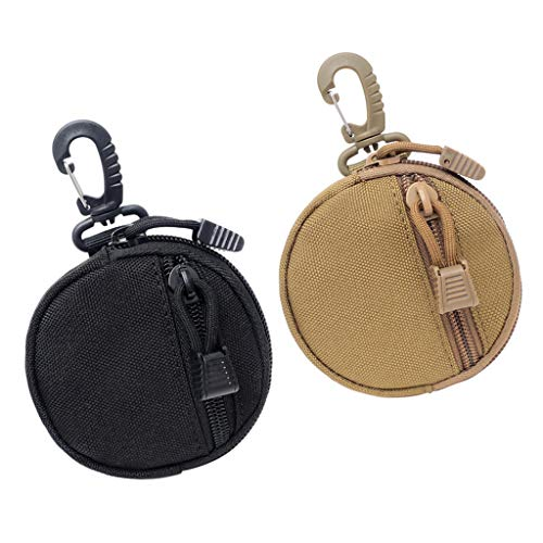Sharplace 2 Piezas Pequeña Bolsa de Llaves de Utilidad Táctica Al Aire Libre Cambio Monedero Accesorio Bolsa de Cintura